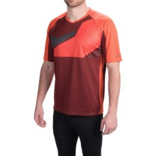 Pearl Izumi Launch Cycling Jersey - Short Sleeve (For Men) in Mandarin Red - Closeouts