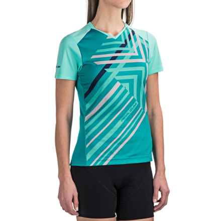 Pearl Izumi Launch Cycling Jersey - Short Sleeve (For Women) in Aqua Mint - Closeouts
