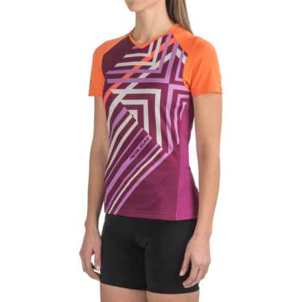 Pearl Izumi Launch Cycling Jersey - Short Sleeve (For Women) in Clementine - Closeouts