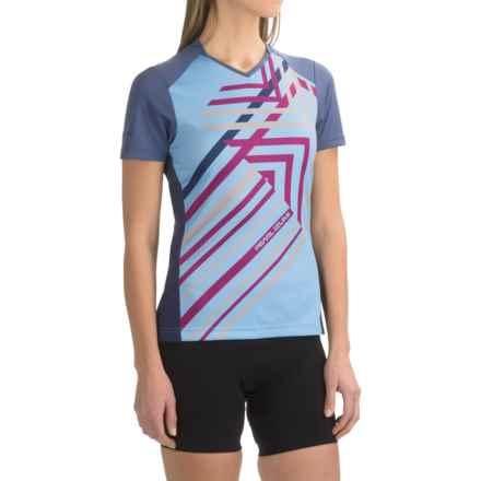 Pearl Izumi Launch Cycling Jersey - Short Sleeve (For Women) in Deep Indigo - Closeouts