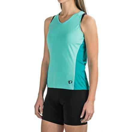 Pearl Izumi Launch Cycling Jersey - Sleeveless (For Women) in Aqua Mint - Closeouts