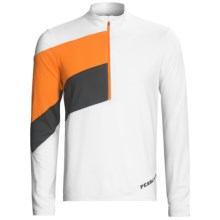 Pearl Izumi Launch Cycling Jersey - UPF 50+, Zip Neck, Long Sleeve (For Men) in White/Oj - Closeouts