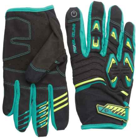 Pearl Izumi Launch Gloves (For Men and Women) in Black/Viridian Green - Closeouts