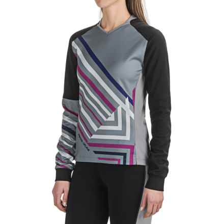 Pearl Izumi Launch Thermal Cycling Jersey - Long Sleeve (For Women) in Monument/Black - Closeouts