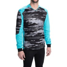 Pearl Izumi Launch Thermal Mountain Bike Jersey - Long Sleeve (For Men) in Blue Atoll - Closeouts