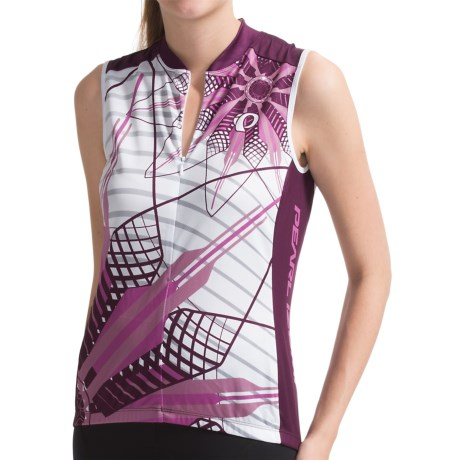 Pearl Izumi Limited Edition Cycling Jersey - Sleeveless (For Women) in Flower Meadow Mauve