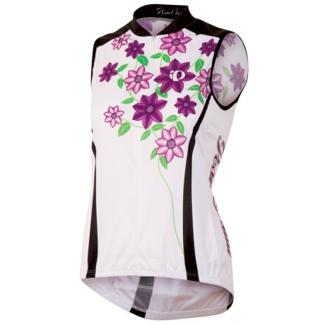 Pearl Izumi Limited Edition Cycling Jersey - Sleeveless (For Women) in Moonflower White