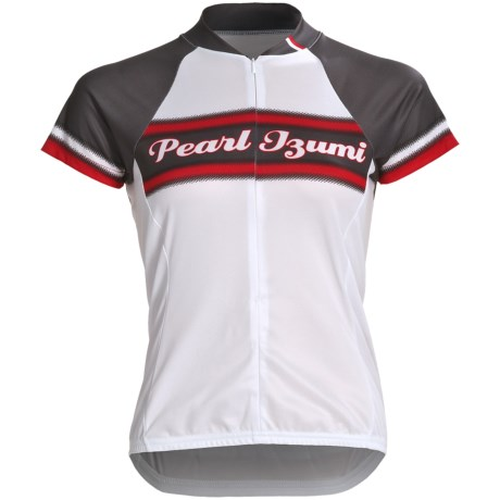 Pearl Izumi Limited Edition Cycling Jersey - Three-Quarter Zip, Short Sleeve (For Women) in Classic Cardinal