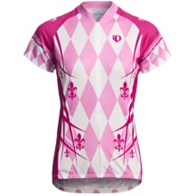 Pearl Izumi Limited Edition Cycling Jersey - Three-Quarter Zip, Short Sleeve (For Women) in Lys Pink Punch - Closeouts