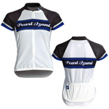 Pearl Izumi Limited Edition Cycling Jersey - Three-Quarter Zip, Short Sleeve (For Women) in Pi Classic Pacific Blue - Closeouts