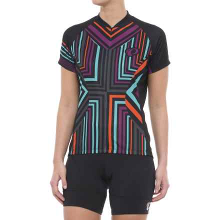 Pearl Izumi Limited Edition Cycling Jersey - Three-Quarter Zip, Short Sleeve (For Women) in Psych Black - Closeouts