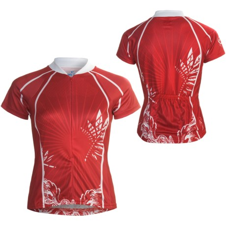 Pearl Izumi Limited Edition Cycling Jersey - Three-Quarter Zip, Short Sleeve (For Women) in Race Chili Pepper