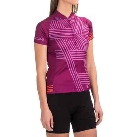 Pearl Izumi LTD Mountain Bike Jersey - Full Zip, Short Sleeve (For Women) in Hex Purple Wine - Closeouts