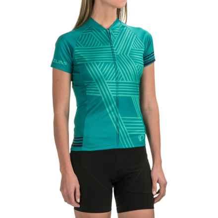 Pearl Izumi LTD Mountain Bike Jersey - Full Zip, Short Sleeve (For Women) in Hex Viridian Green - Closeouts