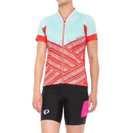 Pearl Izumi LTD Mountain Bike Jersey - Short Sleeve (For Women) in Mist Green Hatch