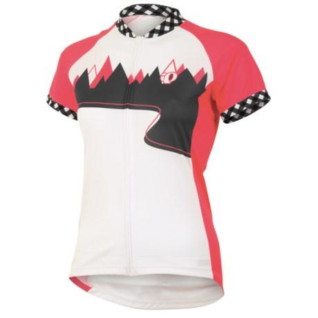Pearl Izumi LTD MTB Jersey - Full Zip, Short Sleeve (For Women) in Paradise Pink Trail
