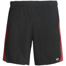 Pearl Izumi Maverick 2-in-1 Shorts - Built-In Boxer Briefs (For Men) in Black/True Red - Closeouts