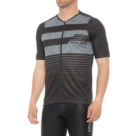 Pearl Izumi MTB LTD Cycling Jersey - Full Zip, Short Sleeve (For Men) in Black/Smoked Pearl Stripe