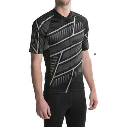 Pearl Izumi MTB LTD Cycling Jersey - Full Zip, Short Sleeve (For Men) in Block Black - Closeouts