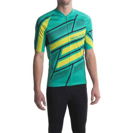 Pearl Izumi MTB LTD Cycling Jersey - Full Zip, Short Sleeve (For Men) in Block Viridian Green - Closeouts