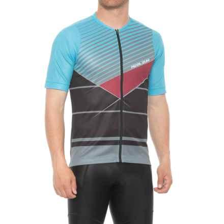 Pearl Izumi MTB LTD Cycling Jersey - Full Zip, Short Sleeve (For Men) in Blue Mist/Smoked Pearl Stripe - Closeouts