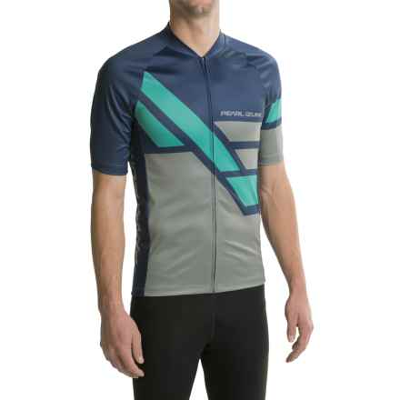 Pearl Izumi MTB LTD Cycling Jersey - Full Zip, Short Sleeve (For Men) in Diagonal Deep Indigo - Closeouts