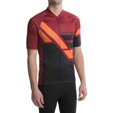 Pearl Izumi MTB LTD Cycling Jersey - Full Zip, Short Sleeve (For Men) in Diagonal Tibetan Red - Closeouts
