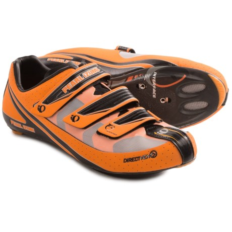 Pearl Izumi Octane SL III Road Cycling Shoes (For Men) in Safety Orange/Black