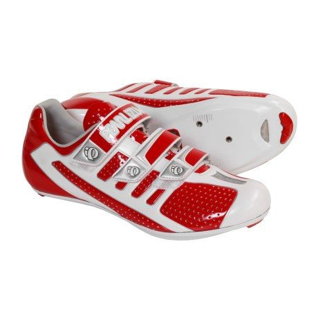 Pearl Izumi Octane SL Road Cycling Shoes - 3-Hole (For Men) in Red/Silver