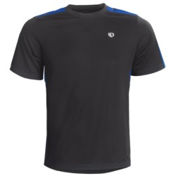 Pearl Izumi Phase Shirt - Short Sleeve (For Men) in Black/True Blue