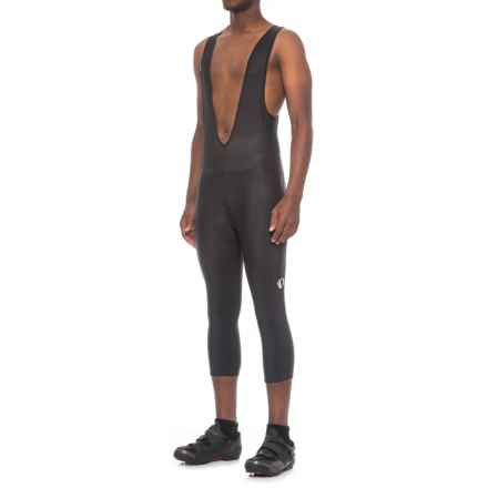 Pearl Izumi Podium 3/4 Cycling Bib Knickers (For Men) in Black/Black - Closeouts