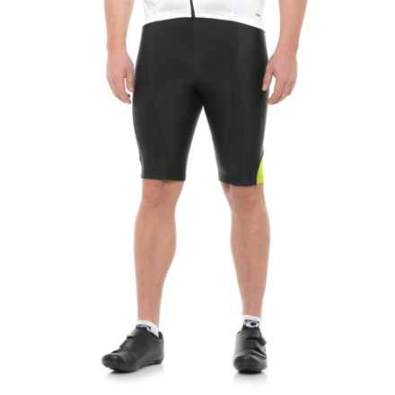 Pearl Izumi Podium Bike Shorts (For Men) in Black/Screaming Yellow - Closeouts