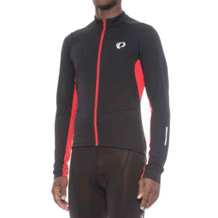 Pearl Izumi Podium Cycling Jersey - Full Zip, Long Sleeve (For Men) in Black/True Red - Closeouts
