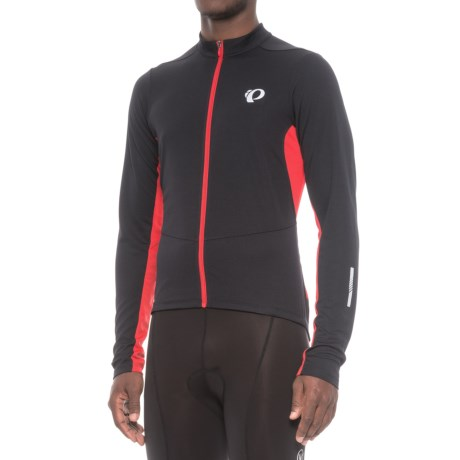 Pearl Izumi Podium Cycling Jersey - Full Zip, Long Sleeve (For Men) in Black/True Red