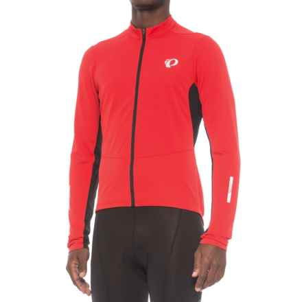 Pearl Izumi Podium Cycling Jersey - Full Zip, Long Sleeve (For Men) in True Red/Black - Closeouts