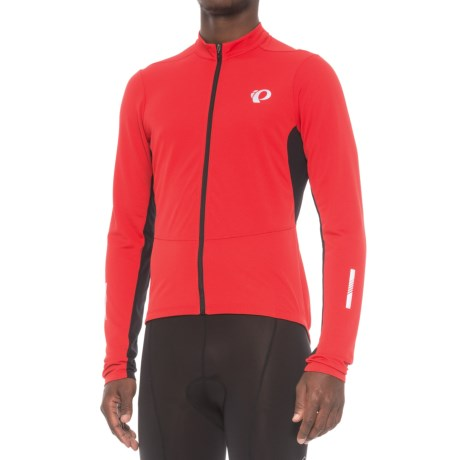 Pearl Izumi Podium Cycling Jersey - Full Zip, Long Sleeve (For Men) in True Red/Black