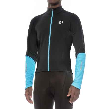 Pearl Izumi Podium ELITE Thermal Cycling Jersey - Full Zip (For Men) in Black / Blue Mist - Closeouts