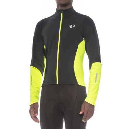 Pearl Izumi Podium ELITE Thermal Cycling Jersey - Full Zip (For Men) in Black/Screaming Yellow - Closeouts