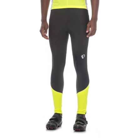 Pearl Izumi Podium ELITE Thermal Cycling Tights (For Men) in Black/Screaming Yellow - Closeouts