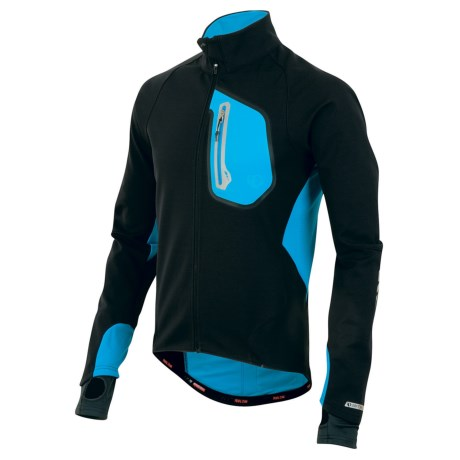 Pearl Izumi P.R.O. 180 Jacket - Soft Shell (For Men) in Black/Electric Blue