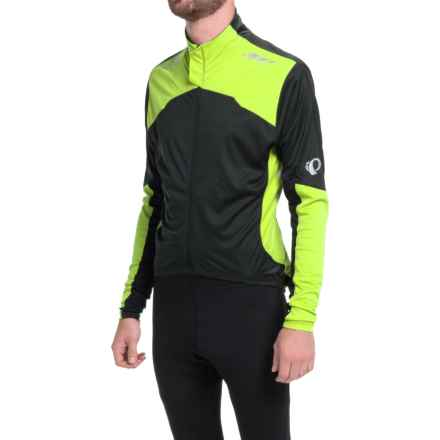 Pearl Izumi P.R.O. Aero Cycling Jersey - Full Zip, Long Sleeve (For Men) in Black/Screaming Yellow - Closeouts