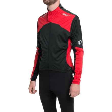 Pearl Izumi P.R.O. Aero Cycling Jersey - Full Zip, Long Sleeve (For Men) in Black/True Red - Closeouts