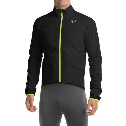 Pearl Izumi  P.R.O. Aero WxB Cycling Jacket - Waterproof (For Men) in Black/Screaming Yellow - Closeouts
