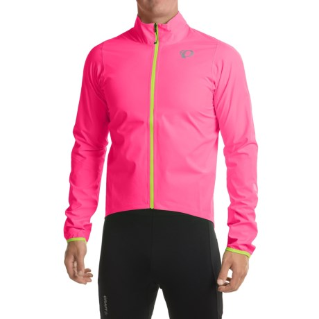 Pearl Izumi P.R.O. Aero WxB Cycling Jacket - Waterproof (For Men) in Screaming Pink