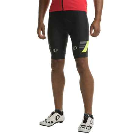 Pearl Izumi P.R.O. Escape Bike Shorts (For Men) in Black/Screaming Yellow - Closeouts