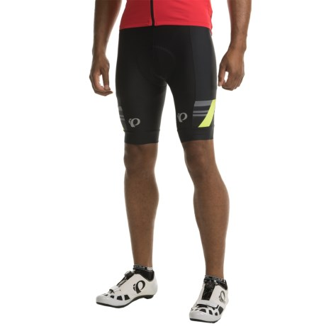 Pearl Izumi P.R.O. Escape Bike Shorts (For Men) in Black/Screaming Yellow