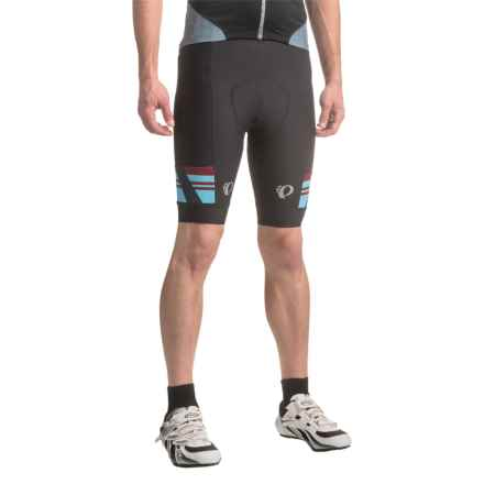 Pearl Izumi P.R.O. Escape Bike Shorts (For Men) in Black/Tibetan Red - Closeouts