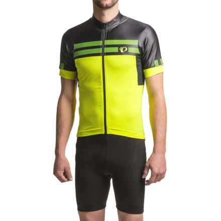 Pearl Izumi P.R.O. Escape Jersey - UPF 40+, Full Zip, Short Sleeve (For Men) in Screaming Yellow/Black - Closeouts