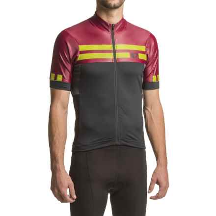 Pearl Izumi P.R.O. Escape Jersey - UPF 40+, Full Zip, Short Sleeve (For Men) in Tibetan Lime - Closeouts