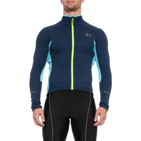 Pearl Izumi P.R.O Escape Thermal Cycling Jersey - Full Zip, Long Sleeve (For Men) in Eclipse Blue
